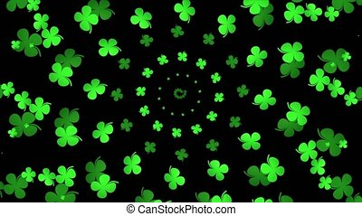 Green abstract clover
