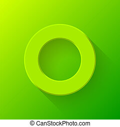 Green Abstract Donut Button Template - Green abstract...