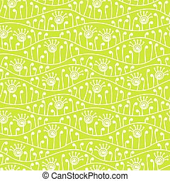 Green abstract floral seamless background.