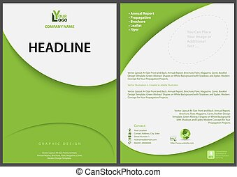 Green Abstract Flyer Template
