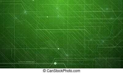 Green Abstract Hi-Tech Technology Pattern. - Hi-Tech...