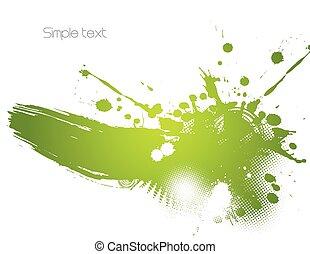 Green abstract illustration. Vector