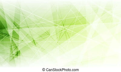 Green abstract low poly shapes tech video animation - Green...