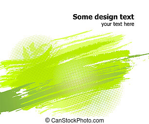 Green abstract paint splashes background. Vector - Elegance...