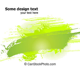 Green abstract paint splashes illustration. Vector -...