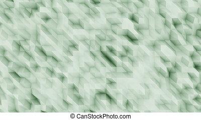 Green abstract polygonal modern backsrop for presentations...