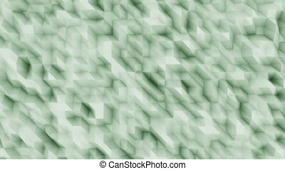 Green abstract polygonal modern motion background for...