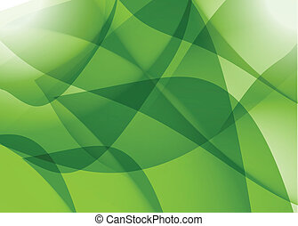 green abstract shapes graphic illustration