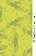 Green Abstract Shapes Pattern