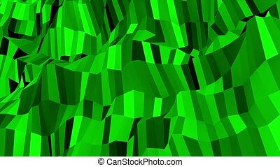 Green abstract shining background
