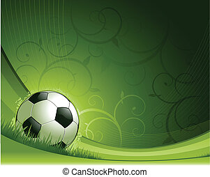 soccer background - green abstract soccer background