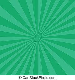 Green Abstract Sun Burst Pattern.