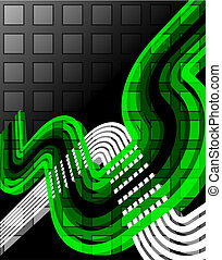 Green abstract tech background