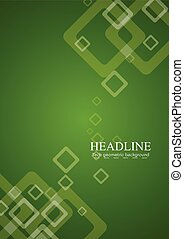 Green abstract tech vector background