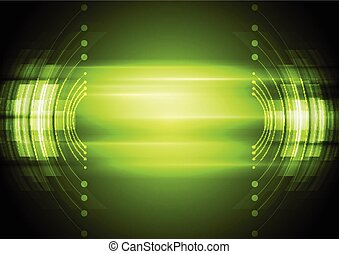 Green abstract technology background