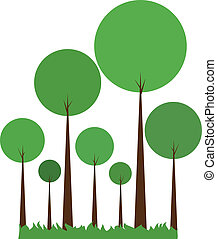 Green abstract trees