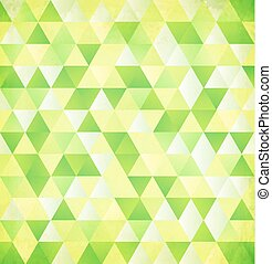 Green abstract triangle vintage background