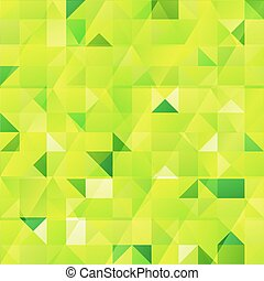 Green abstract triangles seamless pattern