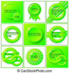 Green abstract vector set of backgrounds for your design