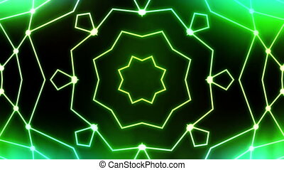 Green abstract VJ loop animated CG background