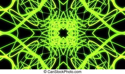 Green abstract VJ loop strobe light rays