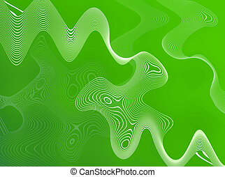 Green Abstract Wires - A free flowing green substance...