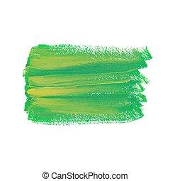 Green acrylic spot