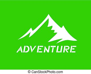 green adventure icon design