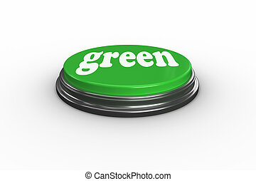 Green against digitally generated green push button