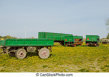 Green agricultural trailers
