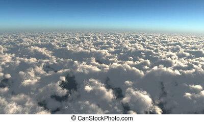 green airplane on sky