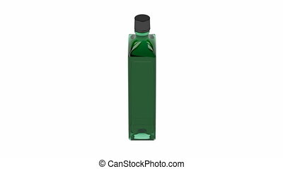 Green alcohol bottle