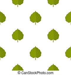 Green alder leaf pattern seamless