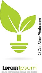Green alternative energy logo