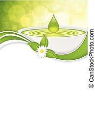 Homeopathy - Green alternative medication concept - ...