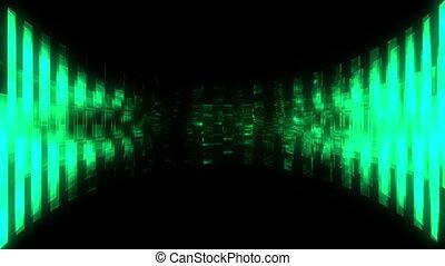 Green and black abstract VJ loop