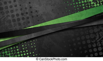Green and black contrast stripes corporate video animation...