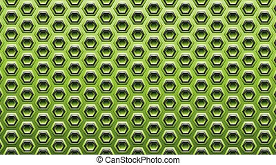 Green and Black Embossed Hexagon Background Vector Illustration