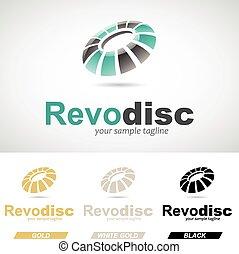 Round Glossy Revolving Logo Icon