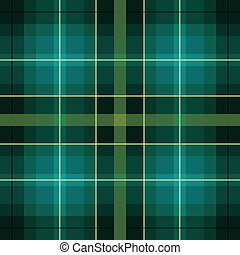 green and black scottish pattern - green and black Cloth...