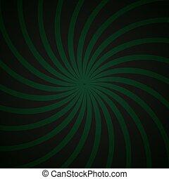 green and black spiral vintage