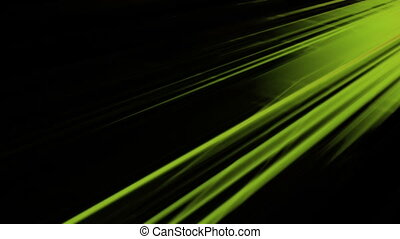 Green and black streaks looping abstract animated background...