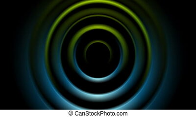 Green and blue abstract smooth circles video animation