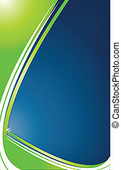 Green and blue Abstract Background with waves. Vector file also available.