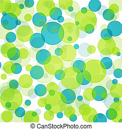 Green and blue bokeh background pattern