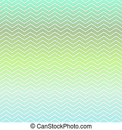 Green and blue chevron pattern background