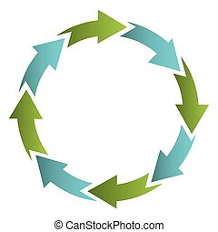green and blue cycle icon