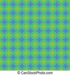 Green and Blue Retro Pattern