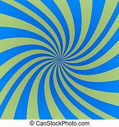 Green and blue spiral design background vector