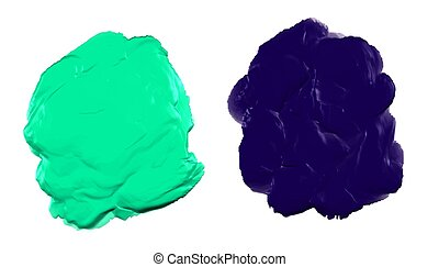 green and blue thick acrylic watercolor paint texture